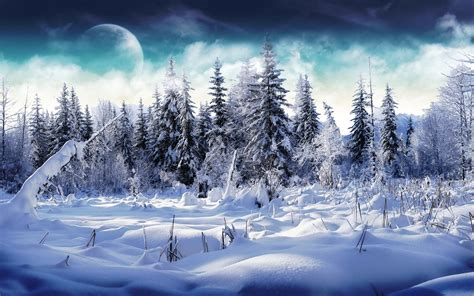Free Download Winter Scenery Powerpoint Backgrounds