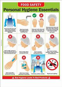 Food Safety Poster: Personal Hygiene Essentials Safety