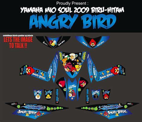 striping motor mio soul angry bird apien sticker