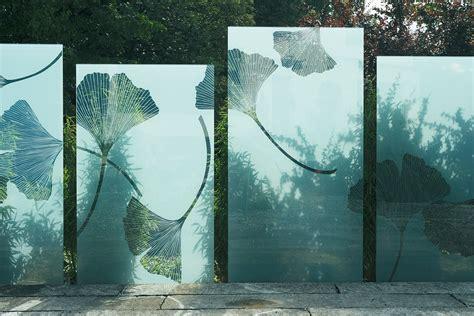 Sichtschutz Garten Glas Bedruckt by Druck Auf Glas