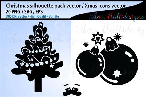 mas svg silhouettes christmas svg silhouette bundle
