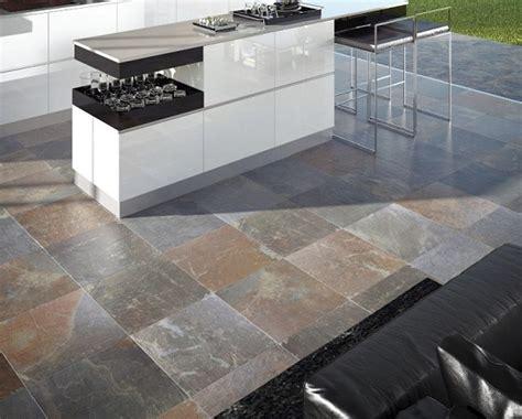 slate tiles outdoor floor for contemporary outdoor kitchen