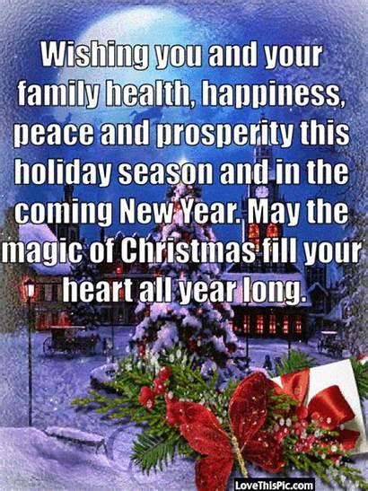 Wishing Health Peace Happiness Prosperity Season Holiday