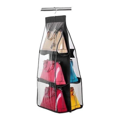 Handbag Hanger For Closet by 6 Slot Closet Hanger Storage Bag Organizer Wardrobe Rack