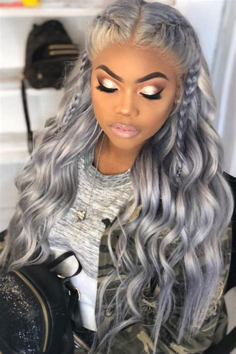 Unique Sew In Hairstyles grey hairstyles for black sew in weaves with closure