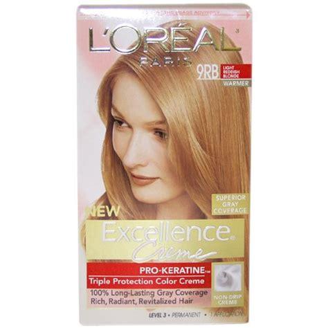 l oreal excellence 9rb light reddish blonde l 39 oreal paris excellence crème with pro keratine complex