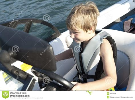 Driving Boat In Dream by Boy Driving Ski Boat Stock Photo Image Of Sport
