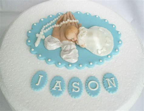 edible personalised christening baptism cake topper