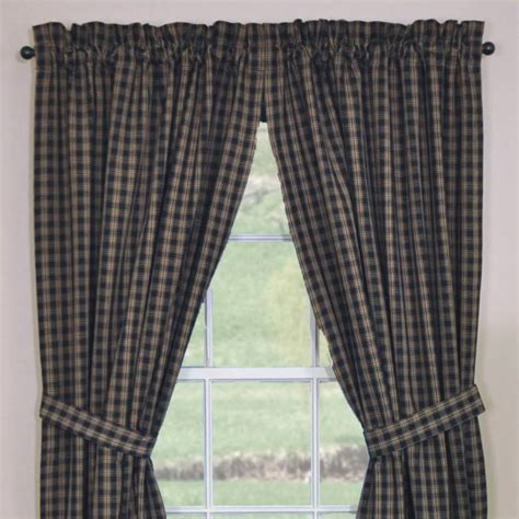 country curtains sturbridge plaid black sturbridge curtains 72x84