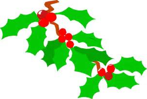 Transparent Christmas Holly Leaves Clip Art
