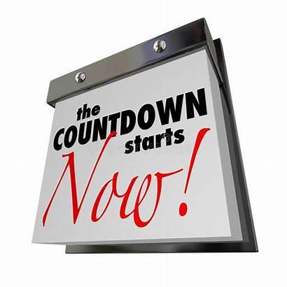 Countdown Calendar Starts Date Final Words Illustration