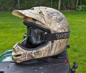 Camo ATV Helmet and Goggles