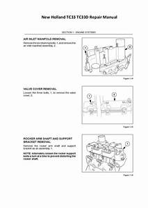 New Holland Tc33 Tc33d Repair Manual