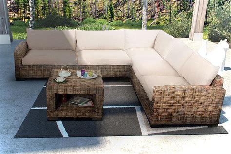 canapé en rotin salon d 39 angle en rotin canapé d 39 angle en rotin et table