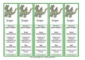 Dragon Bookmarks Printable