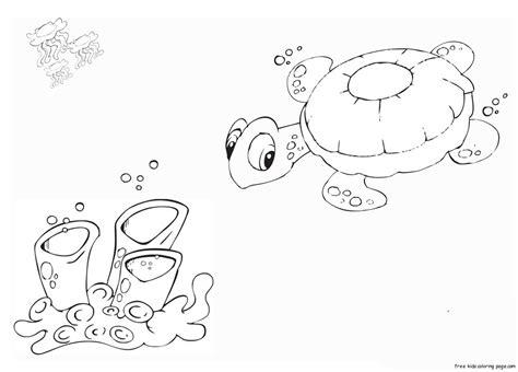 printable coloring pages turtle  ocean  kidsfree