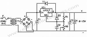 lm 317 power supply electronic circuits With lm317 lm317k lm317