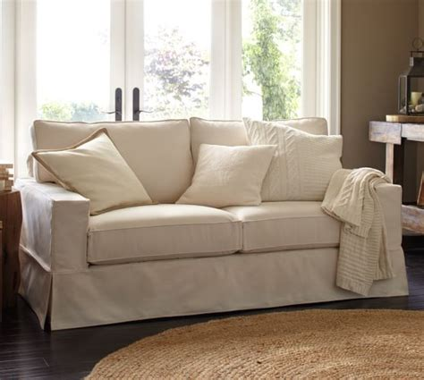 pb comfort square arm slipcovered sofa pottery barn