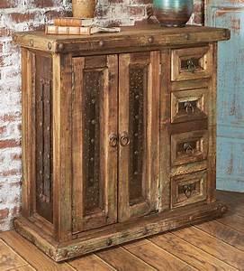 Rustic Reclaimed Wood Mini Armoire  Rustic