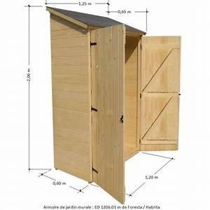 Armoire De Jardin Bois : armoire de jardin en bois murale adossable pour rangement ~ Teatrodelosmanantiales.com Idées de Décoration