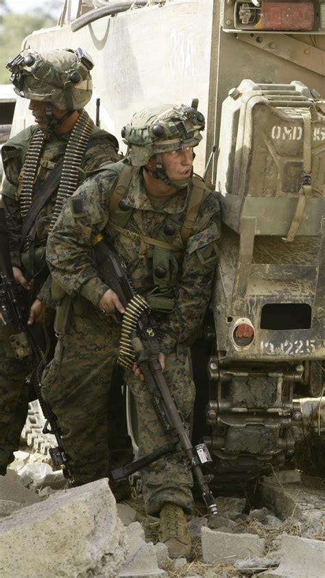 wallpaper  marine soldier training rifle vehicle