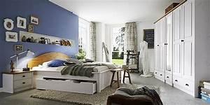 Schlafzimmer Komplett Weiß : schlafzimmer komplett kiefer 2 farbig wei gewachst ~ Orissabook.com Haus und Dekorationen