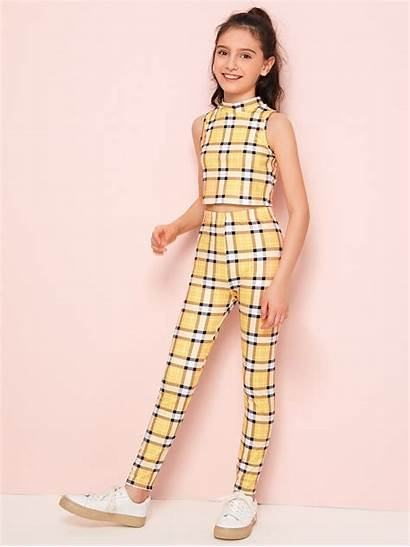 Shein Tank Leggings Preteen Outfits Clothes Teenage