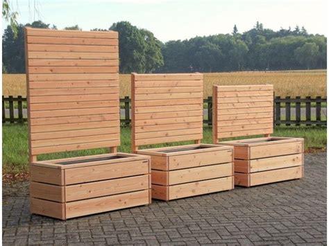 Windschutz Aus Holz by Pflanzkasten Mit Sichtschutz Holz Heimische Douglasie