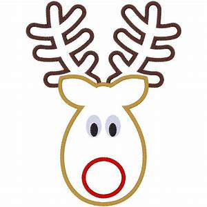 Reindeer Face Template - ClipArt Best