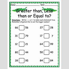Greater Than, Less Than, Equal To Worksheet By Little Learners Lighthouse