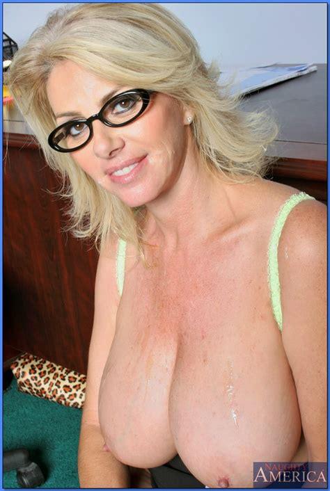 Busty Milf Teacher In Glasses Penny Porsche Bent Over Desk