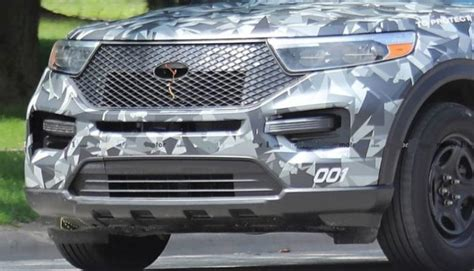 ford explorer caught camouflaged   police