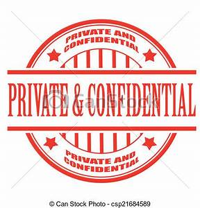 Private and confidential stamp. Private and confidential ...