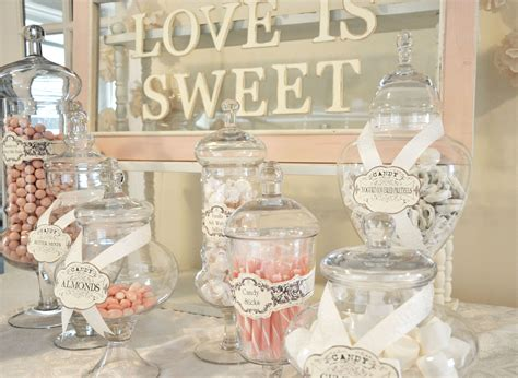 Glamorous Love Candy Buffet Wedding Party Ideas