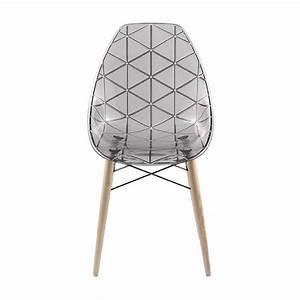 Chaise Transparente Pied Bois : chaise design coque transparente avec pieds en bois naturel prisma 4 ~ Teatrodelosmanantiales.com Idées de Décoration
