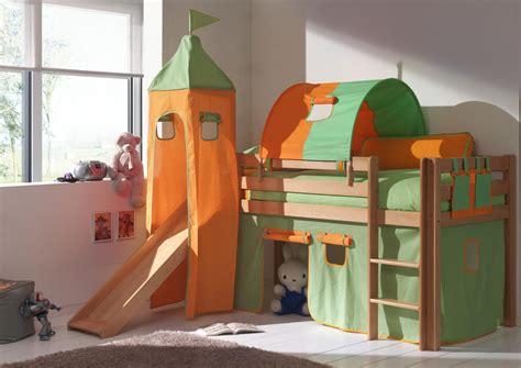 bureau soldé lit enfant surélevé hêtre massif naturel justin lit