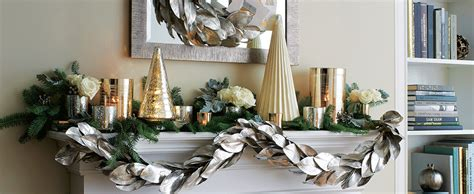 christmas mantel decorating ideas crate  barrel
