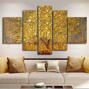 Handpainted golden silver abstract knife canvas paintingn