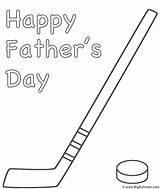 Coloring Hockey Stick Puck Father Fathers Activity Print sketch template