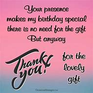 Birthday Gift Thank You Messages