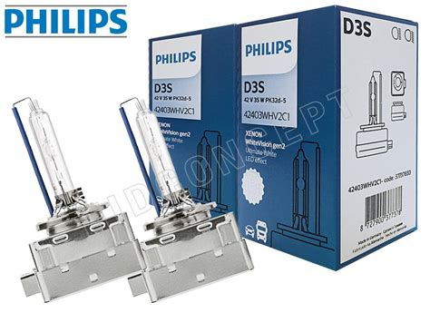 d3s hid philips vision bulbs 5000k bulb xenon package pack ultinon 6000k concept slide previous