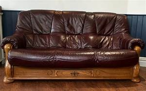 Furniture  Gorgeous Burgundy Leather Sofa For Living Room