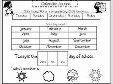 Kindergarten Calendar Activities Worksheets Homeshealthinfo