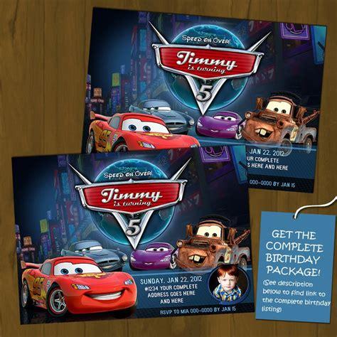 lightning mcqueen birthday invitations
