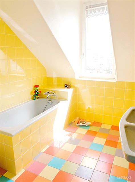 colorful bathroom ideas charming yellow bathroom decor combined with colorful ceramics completed with bathtub applying