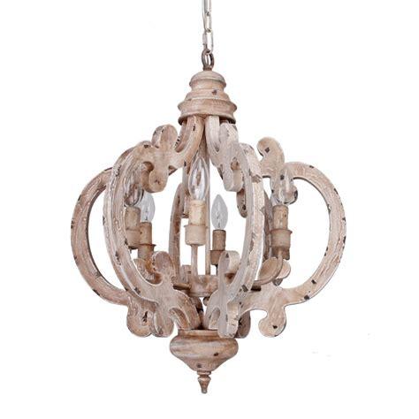 vintage white chandelier 6 light wooden chandelier antique white whosel 3267