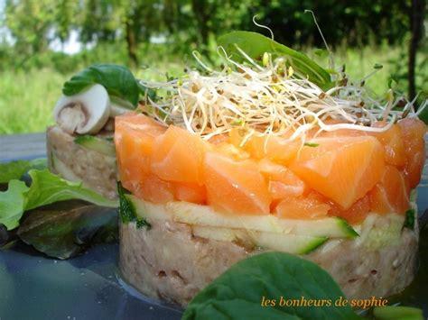 recette de cuisine saumon tartare de chignon et saumon photo de les