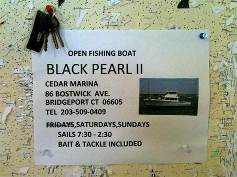 Party Boat Fishing Bridgeport Ct by Connecticut Charter And Party Boats Black Pearl Ii