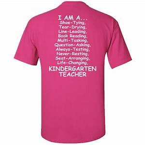 Gildan Tee Color Chart I 39 M A Kindergarten Teacher T Shirt Specialtee Sportswear