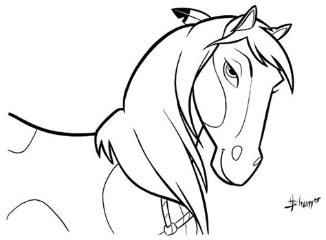 Coloring Pages/lineart-dreamworks-spirit